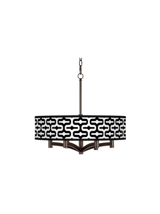 Ava Reflection Art Shade 17 1/4-Inch-H Pendant Chandelier -