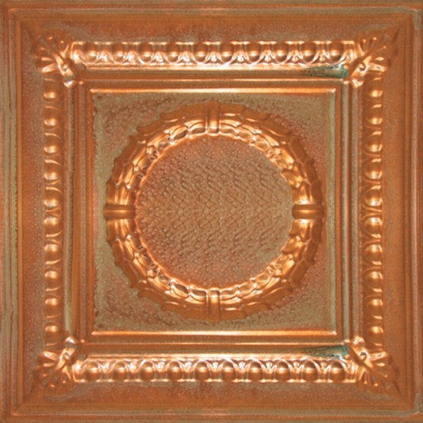 2407 Solid Aged Copper Ceiling Tile - 2ft x 2ft ceiling-tile