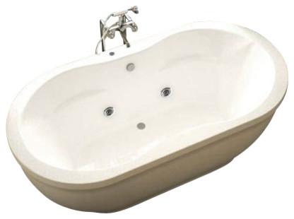 Atlantis Tubs 3471AA Aquatica 34x71x21 Inch Freestanding Whirlpool Air Jet traditional-bathtubs