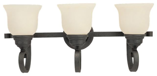 Sea Gull Lighting 49060BLE-07 Serenity Weathered Iron 3 Light Vanity transitional-bathroom-vanity-lighting