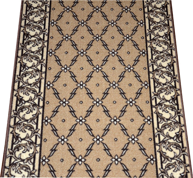 Dean Washable Carpet Rug Runner - Trellis Beige - Purchase By the Linear Foot - Modern - Rugs ...