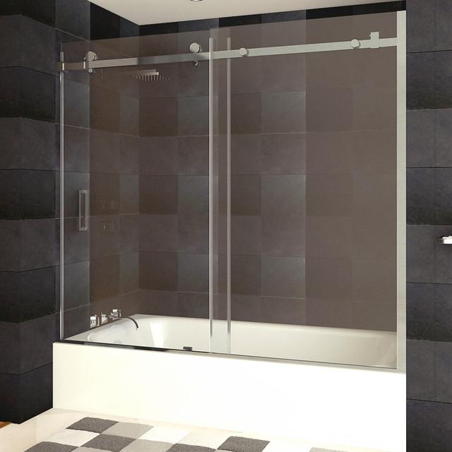 Lesscare Bath Tub Doors Brushed Nickel Finish Ultra B