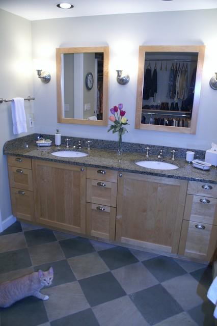 Birmingham MI master closet/bath combination contemporary-bathroom