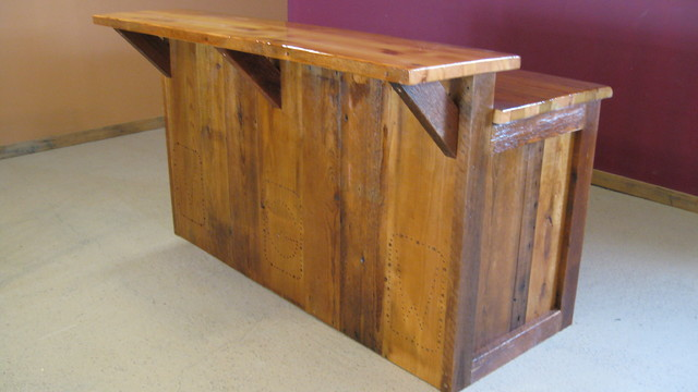 Barnwood Bar Rustic Minneapolis By Vienna Woodworks