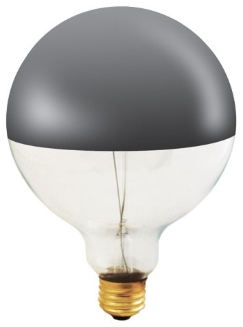 60 watt half chrome decorative g40 light bulb. Black Bedroom Furniture Sets. Home Design Ideas
