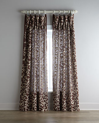 "Each 96""L Nairobi Scroll Curtain traditional-curtains"