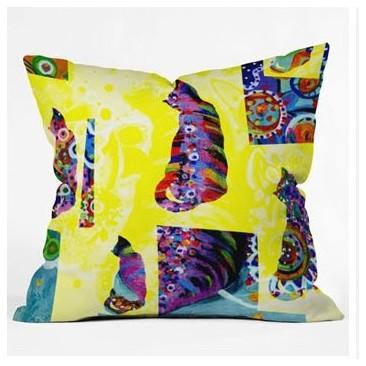 Randi Antonsen Cats 1 Throw Pillow modern-decorative-pillows