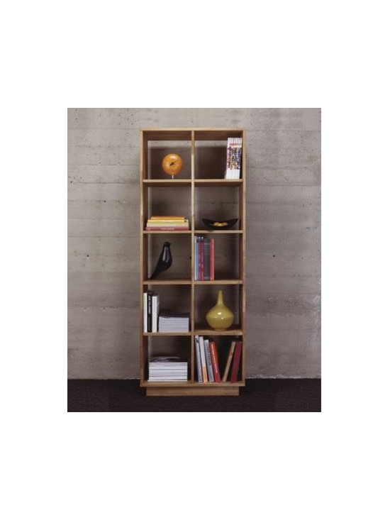 MASHstudios 2x5 Bookshelf - Bookcase Bliss by MASHstudios! Browse titles easily on this clean, compartementalized Bookshelf. Your literary collection speaks loudly; your furniture shouldn't.