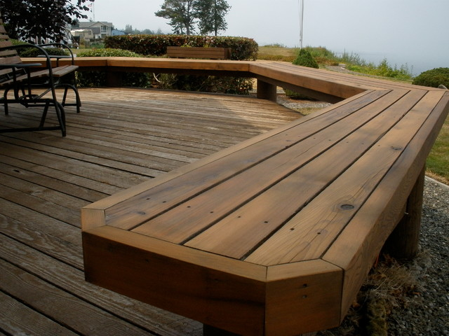 Outdoor Seating Traditional Deck By A Dependable
