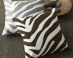 Zebra Pillow Cover modern-pillows