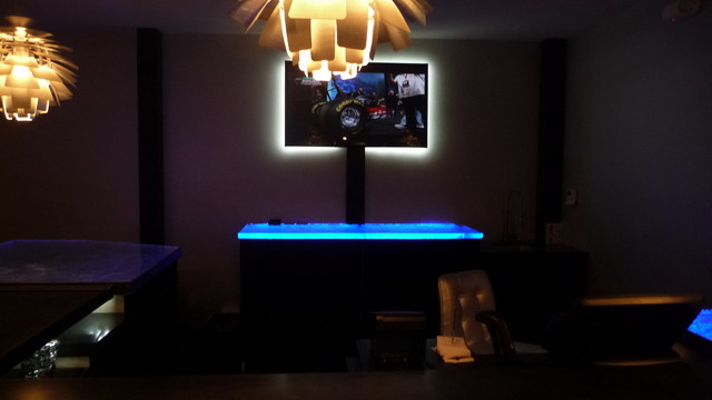 Inspired LED Color Changing RGB Illuminated Glass Counter  : home design from www.houzz.com size 640 x 360 jpeg 33kB