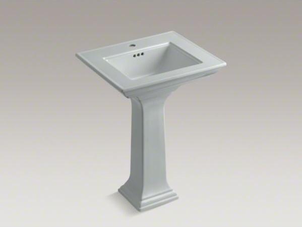 "KOHLER Memoirs(R) Stately 24"" pedestal bathroom sink with single faucet hole contemporary-bathroom-sinks"