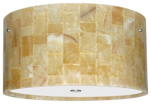 Besa 1KM-4008MX Mosaic Onyx Tamburo Flush Mount - 15.75W in. contemporary ceiling lighting