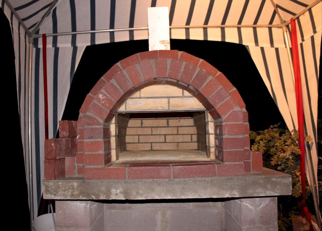 The Jones Family Wood Fired Pizza Oven in New Mexico traditional