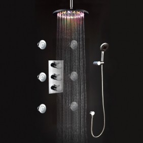 Bathroom Shower Faucets & LED Rainfall Shower Faucets contemporary bathroom faucets