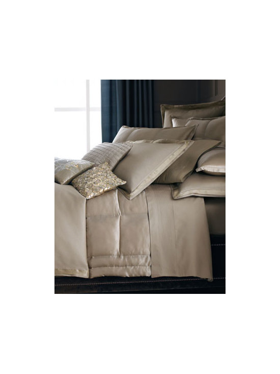 Donna Karan Home - Donna Karan Home Modern Classics Textured Standard Sham - Textured cotton blend with silk flange. Dry clean. Select color when ordering.