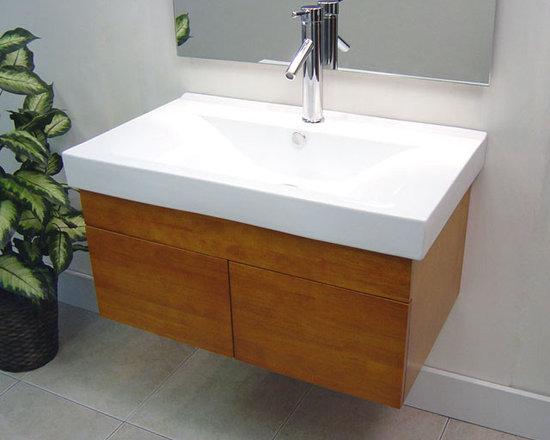 Wall Mounted Bathroom Vanities -