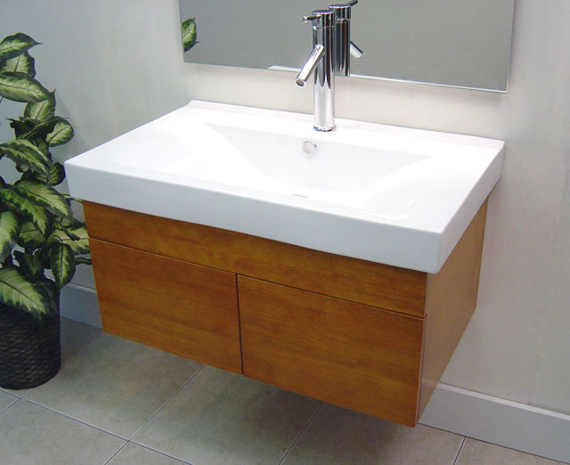 wall mounted bathroom vanities