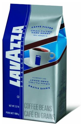 Lavazza Whole Bean 2.2lb, Gran Filtro Dark contemporary-coffee-makers-and-tea-kettles
