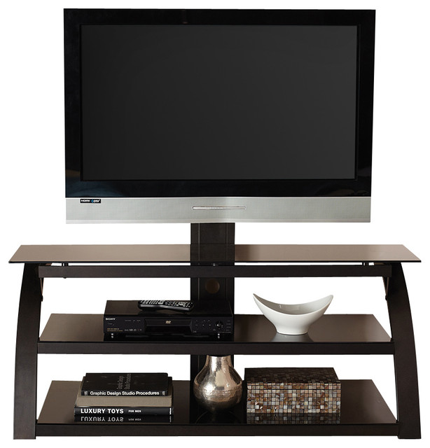 Steve Silver Bernard TV Console w/Mounting Bracket in Black - Modern - Entertainment Centers And ...
