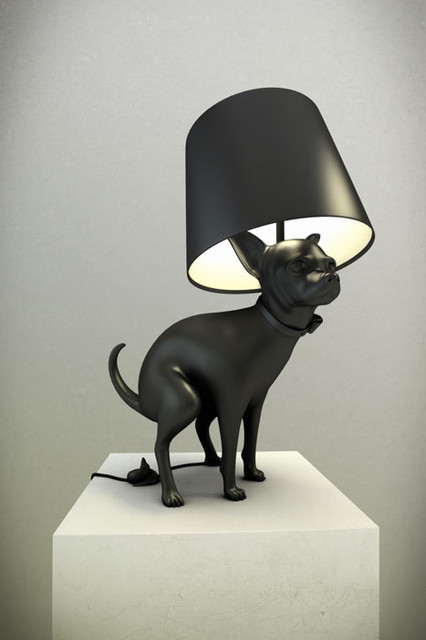 Good Puppy Lamp eclectic-table-lamps