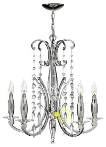 Alexandra 5 Light Chandelier modern-chandeliers