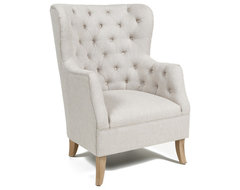 Classic Home Cafer Light Cream Club Chair contemporary-armchairs-and-accent-chairs