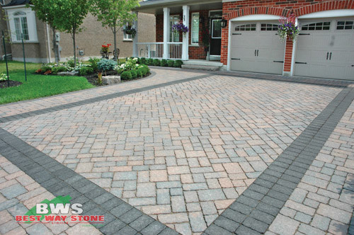 Driveway designs traditional by best way stone for Tile driveway