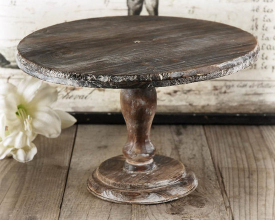 Rustic Wood Cake Stand -