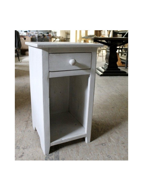 White Night Stand Made From Reclaimed Wood - Made by http://www.ecustomfinishes.com