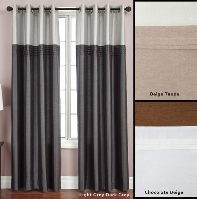 Grommet Lined Curtains Flight lined grommet top