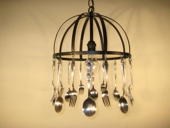 Silverware Chandelier  chandeliers