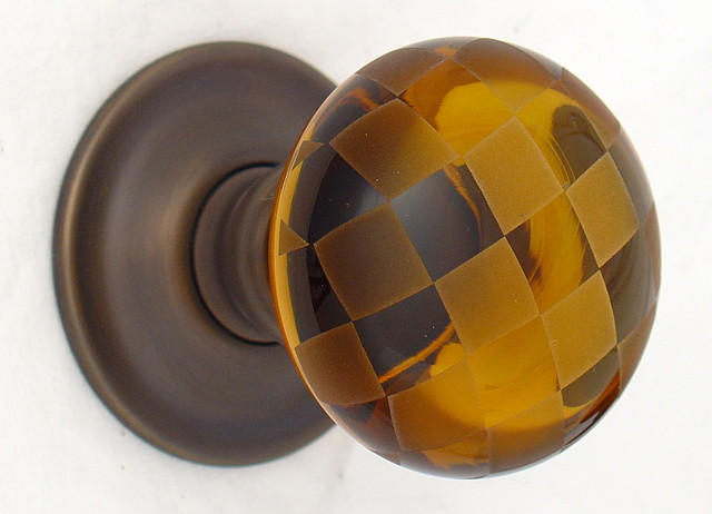 Amber glass door knobs - Eclectic - Doorknobs - other metro - by Merlin Glass