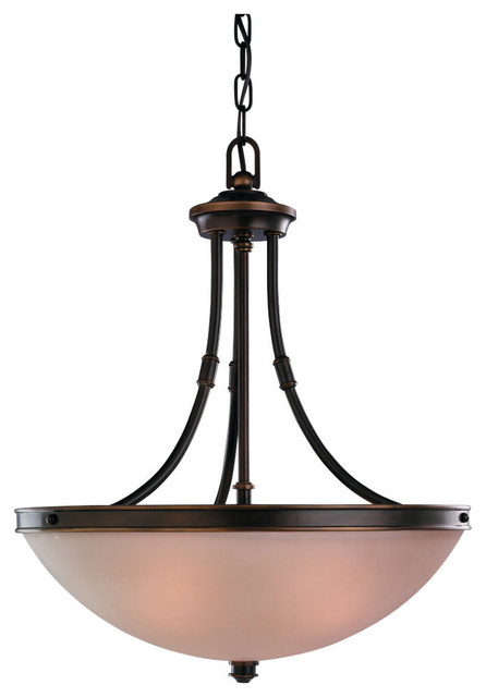 Sea Gull Lighting 65331-825 Warwick Vintage Bronze Pendant transitional-pendant-lighting