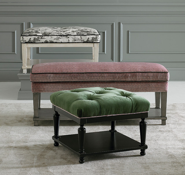 Basset Funiture: Custom Ottomans And Benches By Bassett Furniture