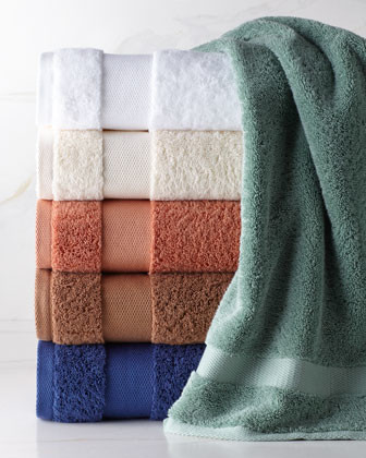 SFERRA Dobby Towels traditional-towels