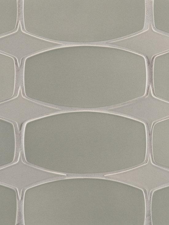 """Ceramic - ANN SACKS Gotham 3"""" x 5-1/4"""" rectangle star ceramic field in cinder matte and 4"""" x 7-1/2"""" rectangle ceramic field in mist matte"""