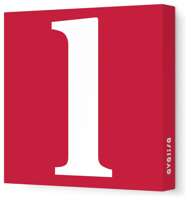 "Letter - Lower Case 'l' Stretched Wall Art, 12"" x 12"", Dark Red modern-wall-letters"