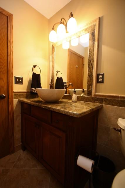 Powder room vanity contemporary bathroom cleveland - Modern powder room vanity ...