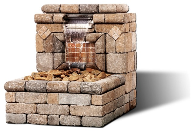 The Oasis I Water Feature modern outdoor fountains