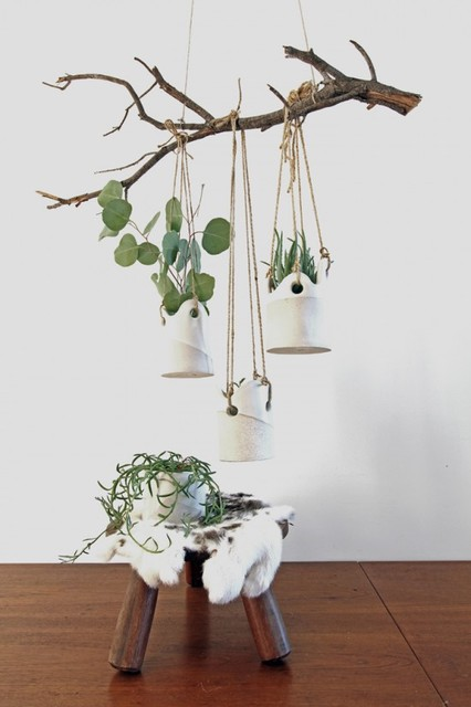Dover Hanging Planters - contemporary - indoor pots and planters ...