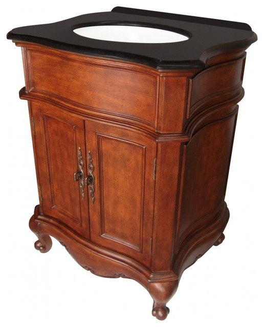 27 Inch Bathroom Vanities: 27 Inch Traditional Single Sink Bathroom Vanity