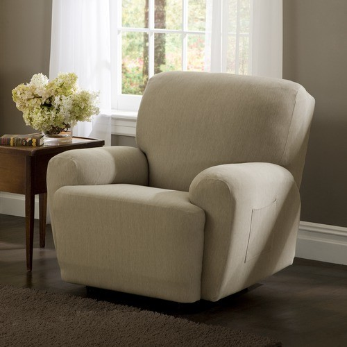 Stretch Twill Recliner Slipcover modern-upholstery-fabric