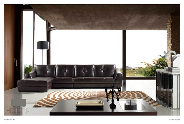 Catalina Italian Leather Sectional Sofa Modern Sectional Sofas Los Ange