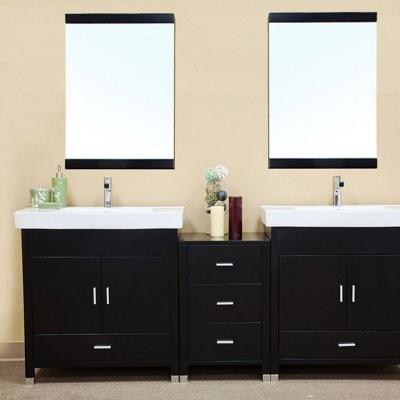 Bathroom Vanities Double Sink on Double Bathroom Vanity With Optional Mirror Modern Bathroom Vanities