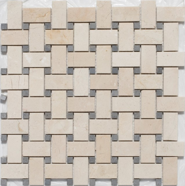 Basketweave Mosaic Tiles - traditional - bathroom tile - - by ...