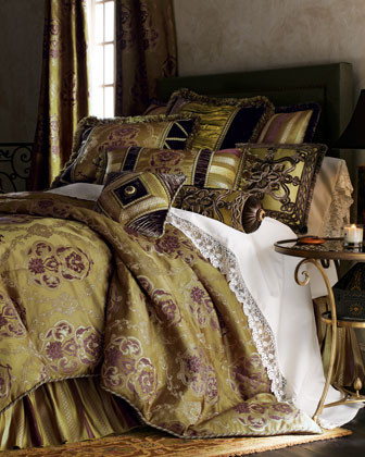 Dian Austin Couture Home Luxembourg Bed Linens European Sham with Silk Center traditional-shams