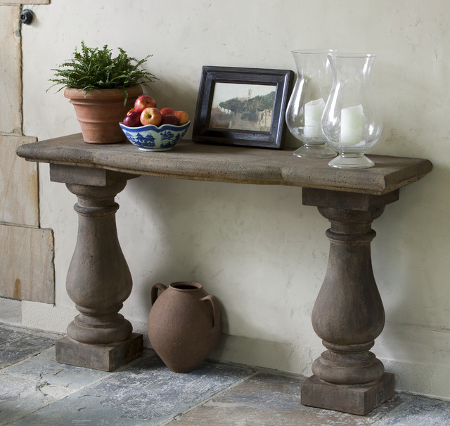 Stone Console Table: Vicenza Cast Stone Outdoor Console Table