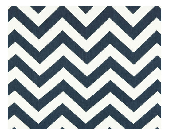 Navy Blue and White Chevron Tablecloth by Four Bugs in a Rug -