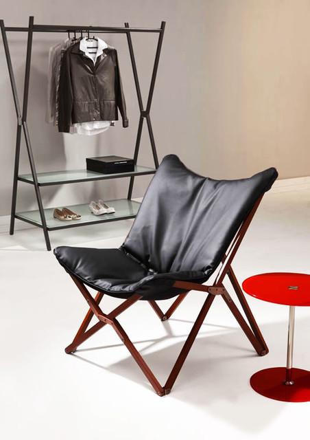 Modern Black Folding Lounge Chair Draper Modern